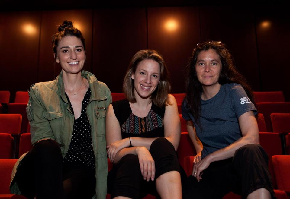 "From left: Composer Sara Bareilles, Jessie Mueller, who stars in ""Waitress,"" and director Diane Paulus."